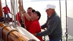 Team uitje op het water